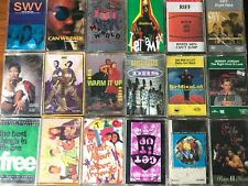 1990's Rnb and Hiphop 30 Cassette tape collection singles and albums