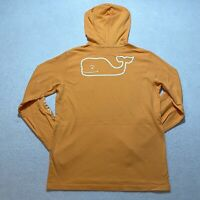 Vineyard Vines Long Sleeve T-Shirt Youth Size L Orange Whale Pocket Cotton