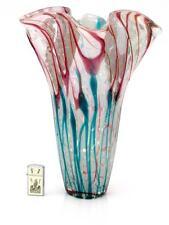 Enorme Magnifica Murano Italian Art Glass esterno Vane Murrine vaso fazzoletto
