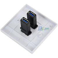 Dual Ports USB 3.0 Wall Charger Outlet Plate Power Adapter Socket Dock Station