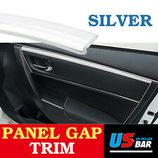 40Feet For Car Accessory Panel Edge Garnish Silver Molding Gap Trim Strip Line