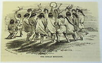1882 magazine engraving ~ THE INDIAN MOCCASIN