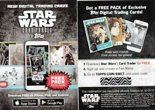 2017 Star Wars 40th Anniversary Star Wars Card Trader Code Cards Lot (24)