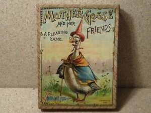 Vintage Mother Goose Card Game McLoughlin Brothers 1892 Complete