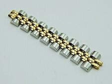 Rolex STAINLESS STEEL 18k GOLD JUBILEE LADY BRACELET 10mm 8 WATCH BRACELET LINKS