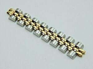 Rolex STAINLESS STEEL 18k GOLD JUBILEE LADY BRACELET 10mm 8 WATCH BRACELET LINKS