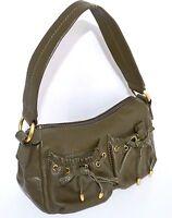 Wilsons Leather Purse Womens Small Green Baguette Handbag Satchel Bag Clutch