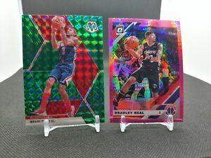 2019-20 Bradley Beal 2 Card Lot Green Mosaic & Pink Hyper Optic Wizards