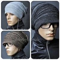 Unisex Womens Mens Crochet Knit Baggy Beanie Hat Winter Warm Oversized Ski Cap