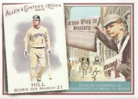2010 Topps Allen & Ginter This Day in History #TDH-41 Aaron Hill Blue Jays