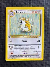 Pokemon Raticate 1st Edition Base Set (I T A L I A N) #40/102 NM-M (T)
