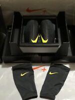 Nike Protegga Carbonite Football Shinguards Black Lightweight Gift Set For Xmas