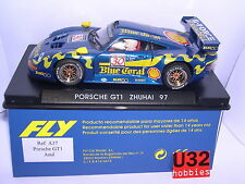 FLY A37 PORSCHE GT1 #30 ZHUHAI 1997 BLUE CORAL M.WELLINDER-J.GREALEY-G.LISTER MB