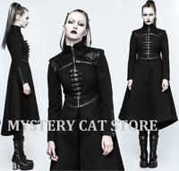 NEW Punk Rave Goth Heavy Metal Black Military Steampunk Jacket Coat Y777 AUstock
