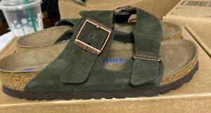 NEW Birkenstock Arizona BS Soft Footbed sandals Mocha Brown Suede 36 5 M N #119