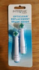 NEW Opticlean replacement brush heads 2 pack Interplak by Conair