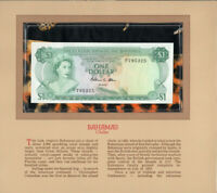 Most Treasured Banknotes Bahamas 1974 1 Dollar P35b AUNC Prefix N/1 Allen*
