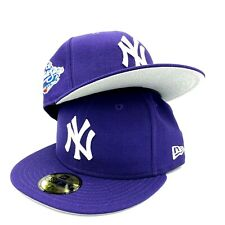 Yankees World Series 1998 59FIFTY New Era Purple Fitted Hat Cap Gray Bottom