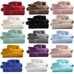 Luxury Miami 100% Egyptian Cotton Hand Bath Sheet Towels 650 GSM Soft Absorbent