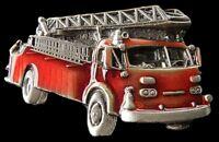 Firefighter Fireman Red Fire Dept Trucks  Belt Buckle Boucle de Ceinture
