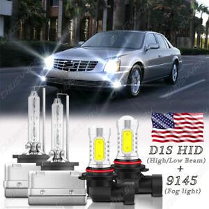 For Cadillac DTS 2006-2011 - Xenon HID Headlight HI/LO & LED Fog Light Bulbs Kit