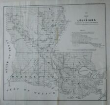 Original 1855 Survey Map LOUISIANA Overflowed Land District Rejected Claims