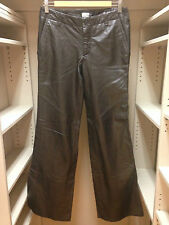 GAP Low Rise Genuine Leather Brown Wide Leg Pants Size 6