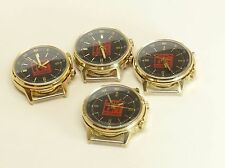 NEW POLJOT SIGNAL ALARM USSR mechanical wristwatch 18 j Cal 2612.1 gold plated