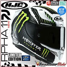 CASQUE MOTO INTÉGRAL HJC RACING RPHA-11 MILITARY WHITE SAND MONSTER ENERGY XS
