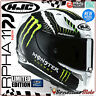 CASQUE MOTO INTÉGRAL HJC RACING RPHA11 MILITARY WHITE SAND MONSTER ENERGY MC4 M