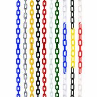 4 Colore 5m/10m Sicurezza Plastica Catena Segnaletica Di Bloccore 6mm Barriera