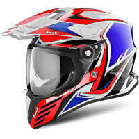 AIROH CASCO COMMANDER CARBON ON-OFF 2018 RED GLOSS ON ROAD HPC CMCA55