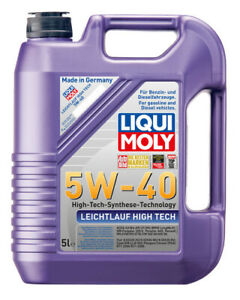 Liqui Moly Leichtlauf High Tech Synthetic Technology Engine Oil 5W-40 5L