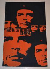 1968 Cuban SILKSCREEN Political Poster.Che Guevara.Hasta la Victoria Siempre.art