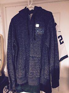 Super Bowl 47 Sweatshirt Ravens Media Issued New Orleans Large