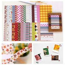 28X Washi Masking Fabric Stickers Craft Set Scrapbook Label Diary Decorative Tag