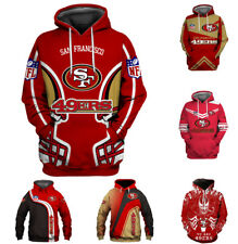 San Francisco 49ers Hoodies 3D Print Sweatshirt Pullover Mens Casual Jacket Coat