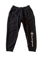 Champion Athletic Sweat Pants Black Womens Size Large 29x27 Vintage GUC
