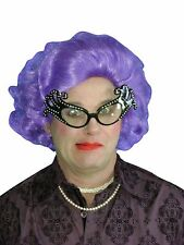 Dame Edna Wig Purple Fancy Dress Costume Adult Fancy Dress Up Party Drag Queen