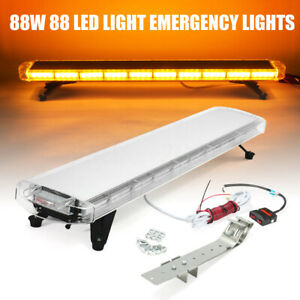 "47"" 88 LED Yellow Strobe Light Bar Car Waterproof Beacon Warn Tow Truck Response"