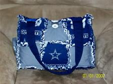 Blue Gray Dallas Cowboy NFL  Rag Quilt Diaper Bag Tote Purse Hand Crafted