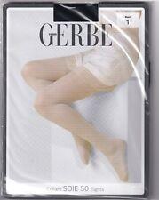 Collant GERBE SOIE 50 coloris Noir. Taille 1 - 8½. Silk tights.