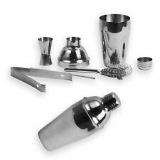 Cocktail Martini Drink Shaker Mixer 550ml Chrome Silver Bartender Pub Party Set