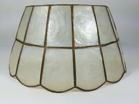 "Vintage Capiz Shell Lamp Shade 12"" Bottom x  8"" Top x 6"" Tall"
