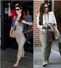 Petite Striped Sleeveless Casual Dresses for Women