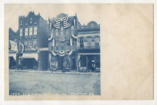 1906 Cyanotype RPPC I.O.O.F. Hall Building IOOF Anniversary Canton, Pennsylvania