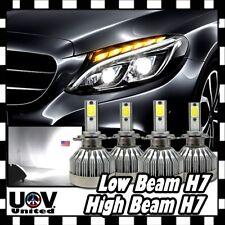 H7 Error Free CREE COB LED White 60W 6000 LM DRL High & Low Beam Headlight Bulbs