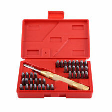 38 Piece Automatic Letter & Number Stamping Metal Punch Stamp Set Tool Kit H0450