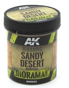 AK Interactive AK8022 Terrains Sandy Desert (250ml) Diorama Series Red Sand