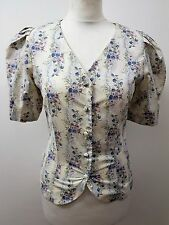 BNWT Women's Short Sleeved, Floral Blouse by Laura Ashley. Size 10 Gorgeous